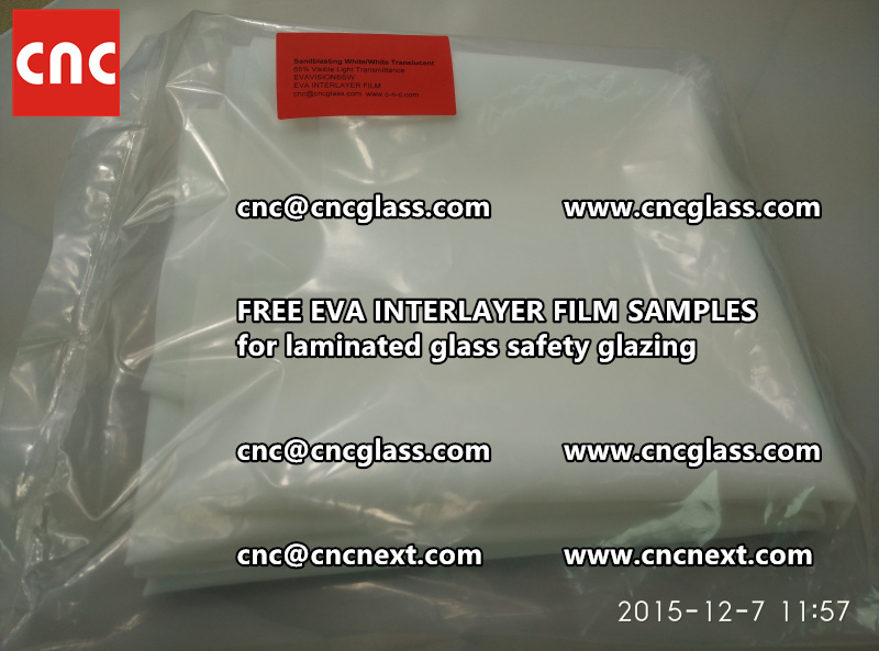 CROSS LINKED EVA GLASS INTERLAYER samples for laminated glass safety glazing test (4)