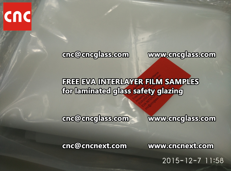CROSS LINKED EVA GLASS INTERLAYER samples for laminated glass safety glazing test (40)