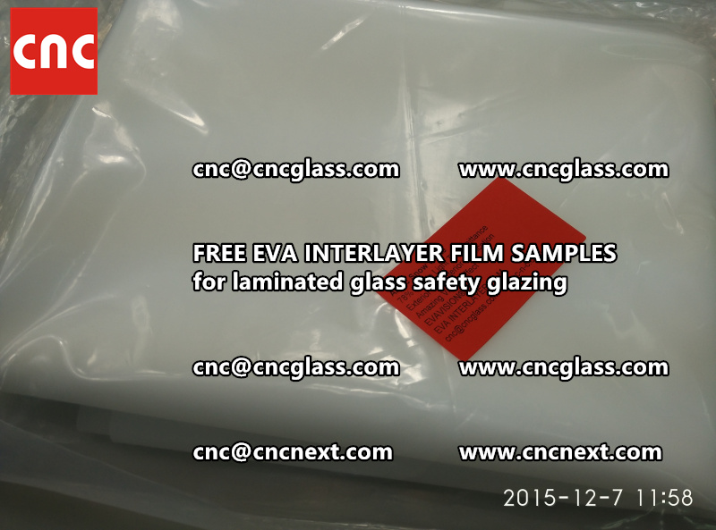 CROSS LINKED EVA GLASS INTERLAYER samples for laminated glass safety glazing test (41)