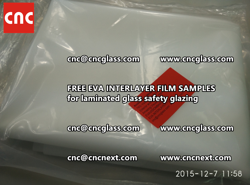 CROSS LINKED EVA GLASS INTERLAYER samples for laminated glass safety glazing test (42)