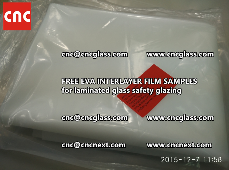 CROSS LINKED EVA GLASS INTERLAYER samples for laminated glass safety glazing test (43)