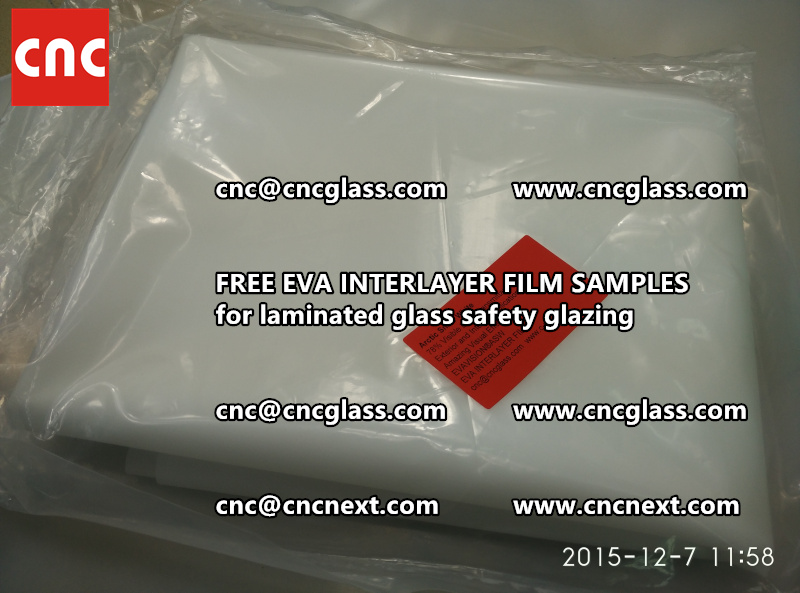 CROSS LINKED EVA GLASS INTERLAYER samples for laminated glass safety glazing test (44)