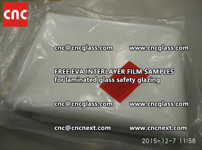 CROSS LINKED EVA GLASS INTERLAYER samples for laminated glass safety glazing test (45)