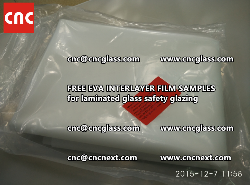 CROSS LINKED EVA GLASS INTERLAYER samples for laminated glass safety glazing test (46)