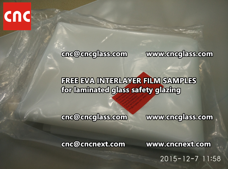CROSS LINKED EVA GLASS INTERLAYER samples for laminated glass safety glazing test (47)