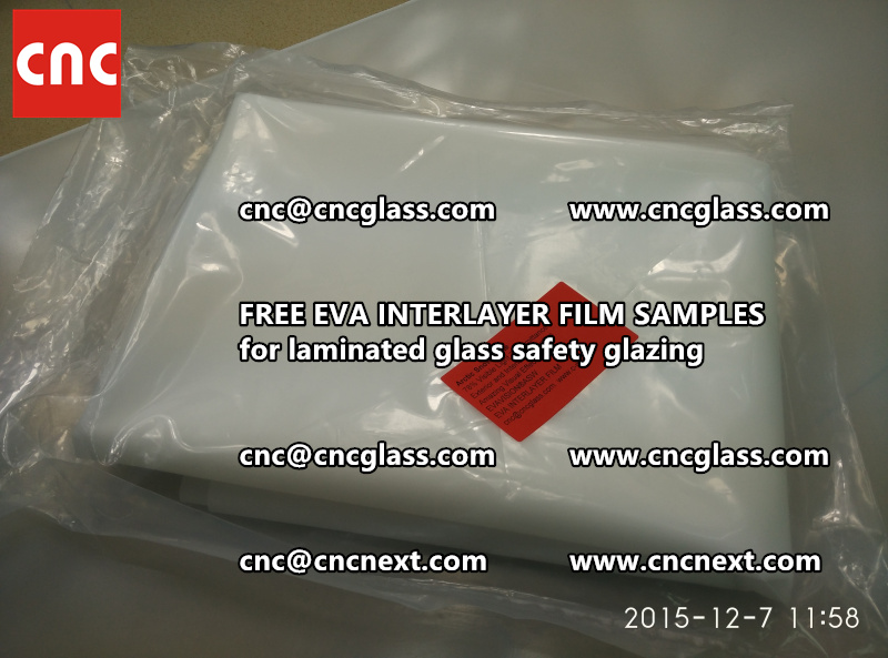 CROSS LINKED EVA GLASS INTERLAYER samples for laminated glass safety glazing test (48)
