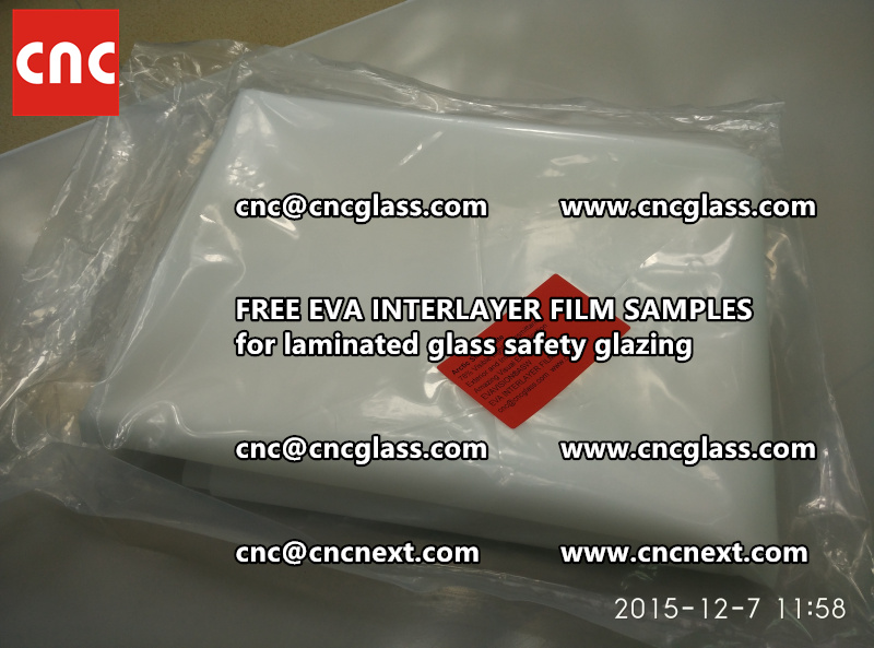 CROSS LINKED EVA GLASS INTERLAYER samples for laminated glass safety glazing test (49)
