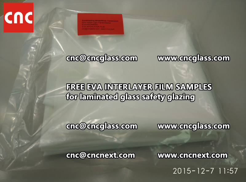 CROSS LINKED EVA GLASS INTERLAYER samples for laminated glass safety glazing test (5)