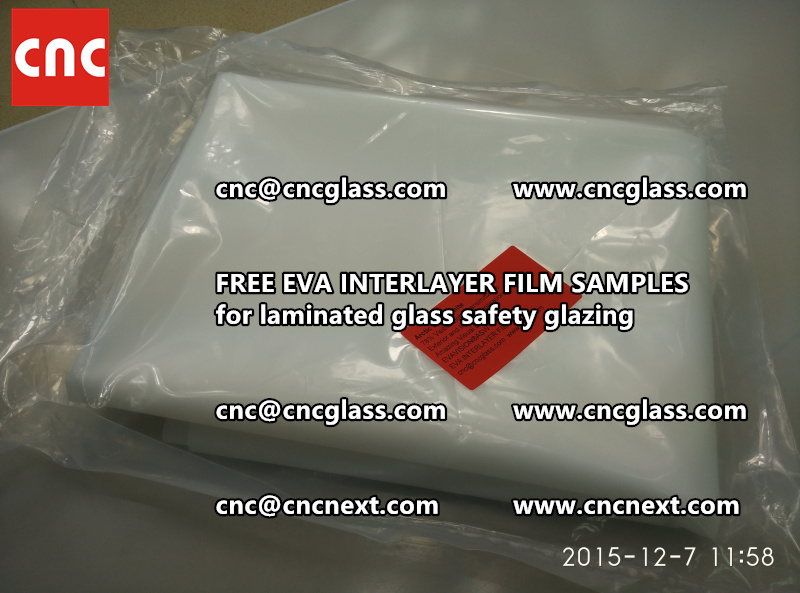 CROSS LINKED EVA GLASS INTERLAYER samples for laminated glass safety glazing test (50)