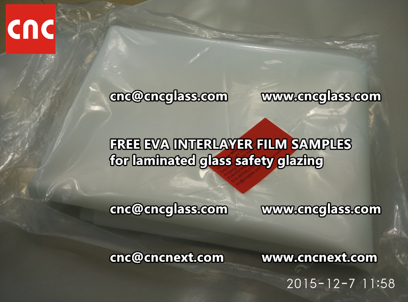 CROSS LINKED EVA GLASS INTERLAYER samples for laminated glass safety glazing test (52)