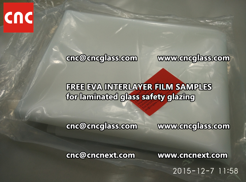 CROSS LINKED EVA GLASS INTERLAYER samples for laminated glass safety glazing test (53)