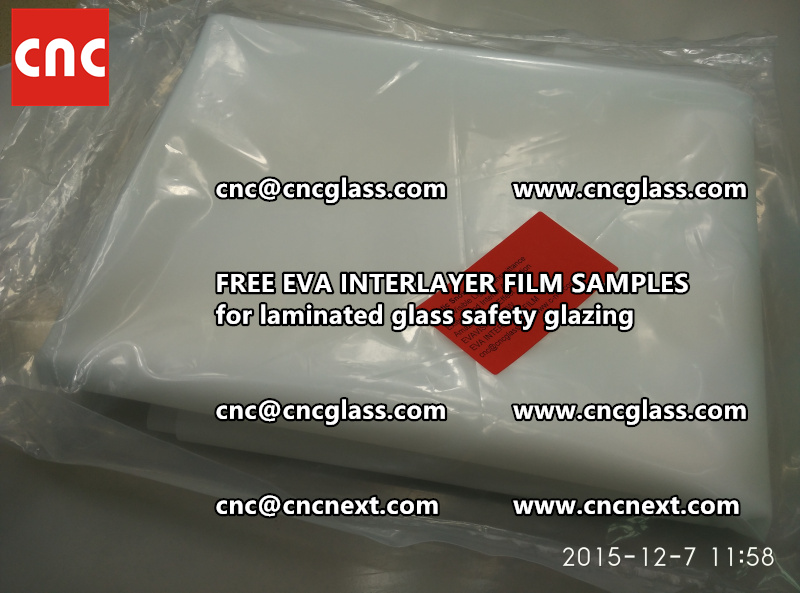 CROSS LINKED EVA GLASS INTERLAYER samples for laminated glass safety glazing test (54)