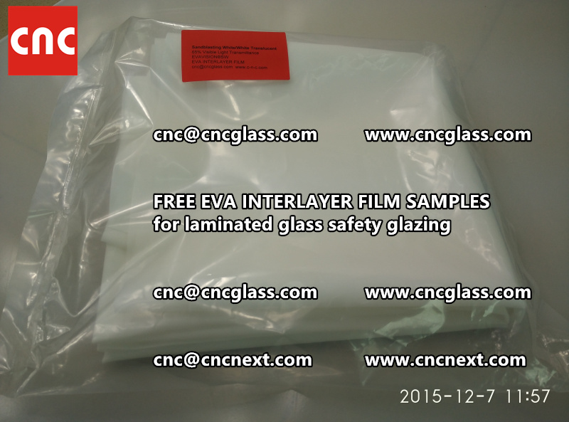 CROSS LINKED EVA GLASS INTERLAYER samples for laminated glass safety glazing test (7)