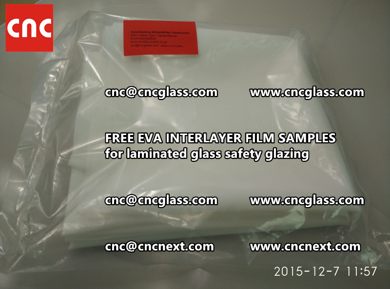 CROSS LINKED EVA GLASS INTERLAYER samples for laminated glass safety glazing test (8)