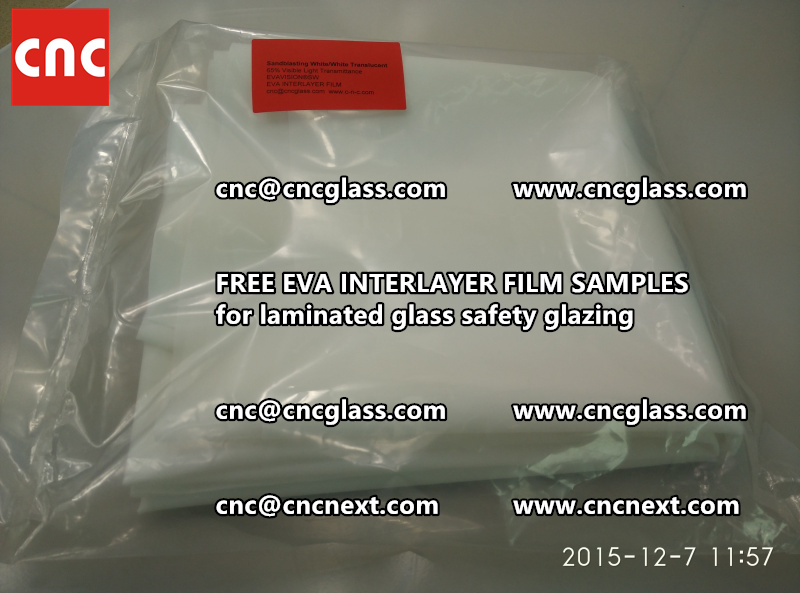 CROSS LINKED EVA GLASS INTERLAYER samples for laminated glass safety glazing test (9)